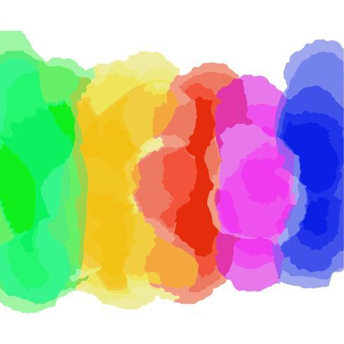 Arco-íris aquarela