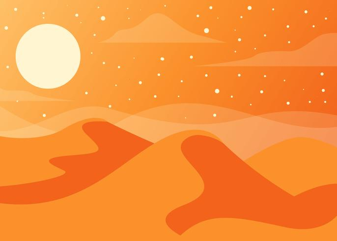 Desert Landscape Background Vector