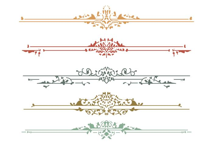 Beaux éléments de conception Art Nouveau
