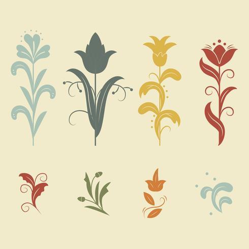Floral Art Nouveau Vector