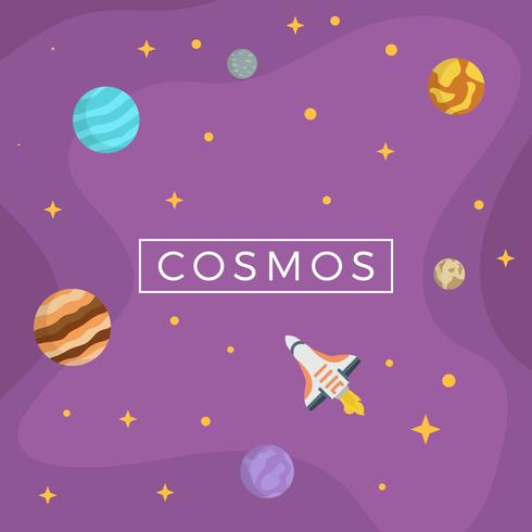 Illustration vectorielle de Cosmos plat
