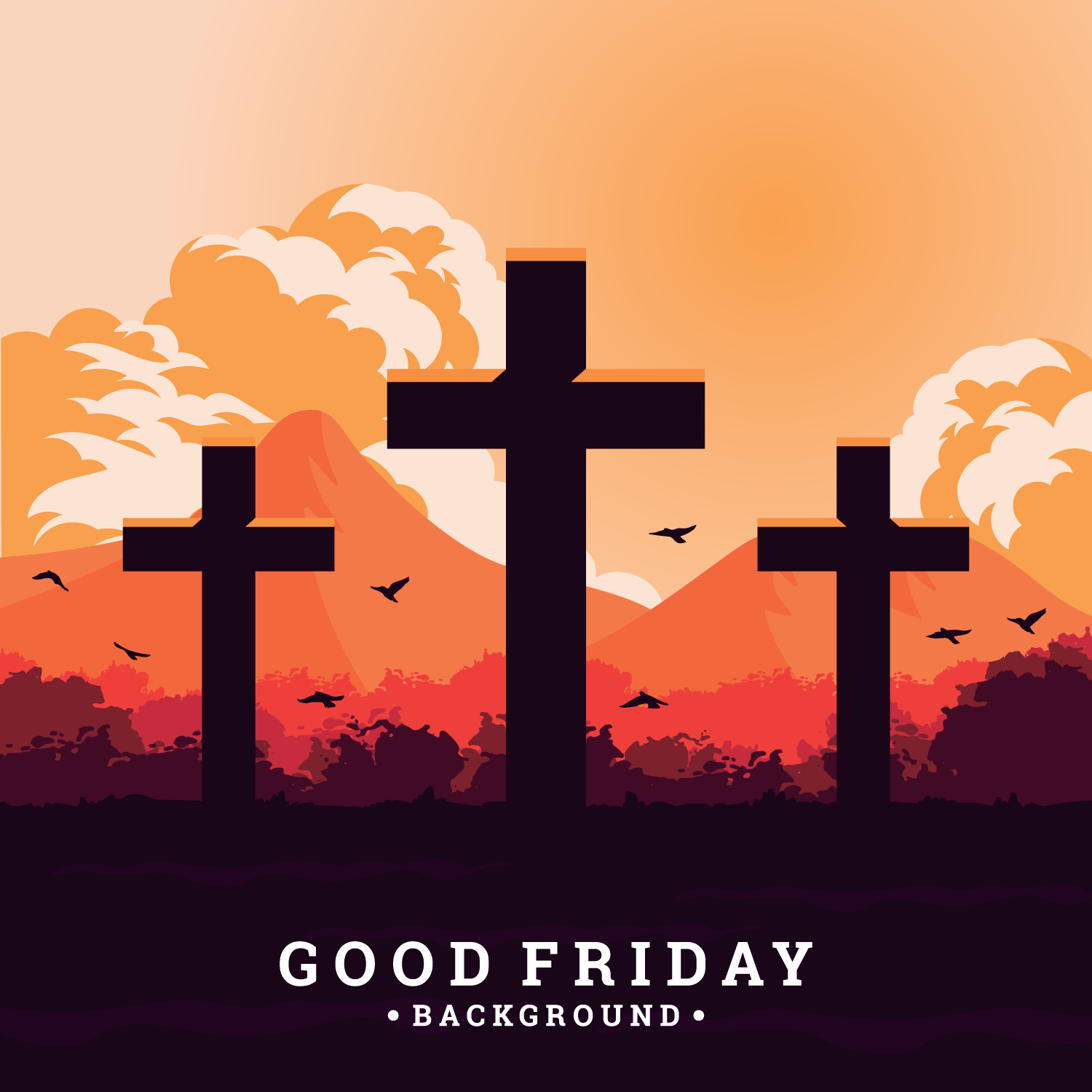 Good Friday Background - Download Free Vector Art, Stock ... | 1500 x 1500 png 176kB