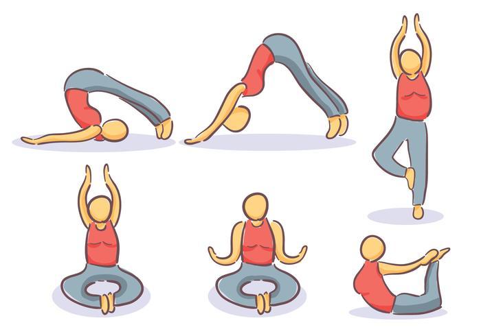 Gymnast Line Icons