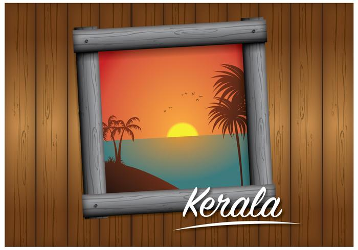 Kerala-Landschaftsvektor