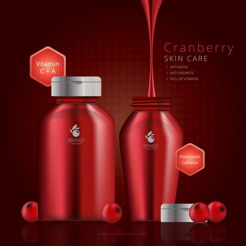 Cranberries Extract Cosmetic Advertising Template