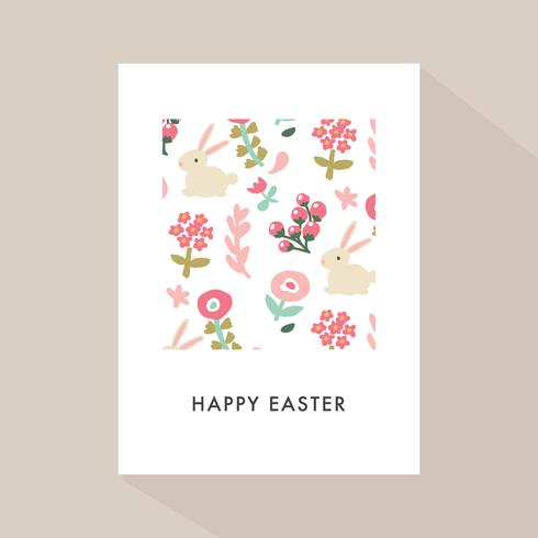 Happy Easter Memphis With A Cute Pattern In A Frame