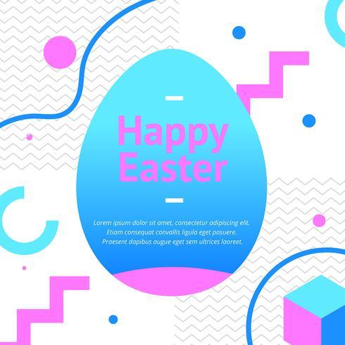 feliz Pascua memphis vector