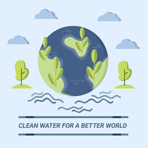 Clean Water for Better World Design Vector