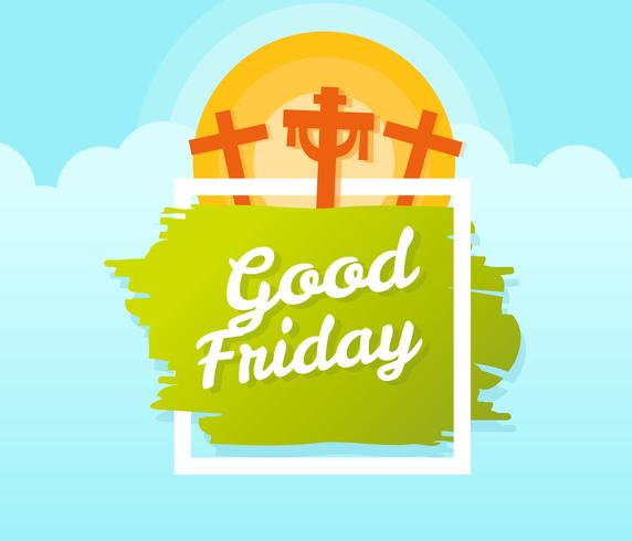 Good Friday Design Greeting Card