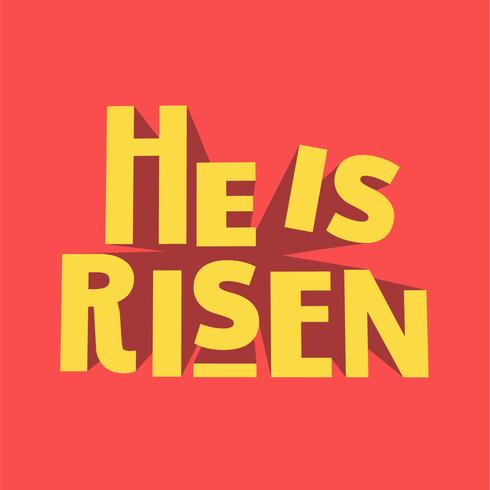 He is risen 3D typography