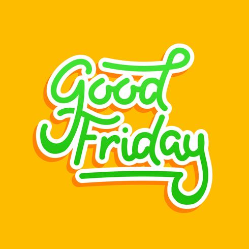 Good Friday Typography Background