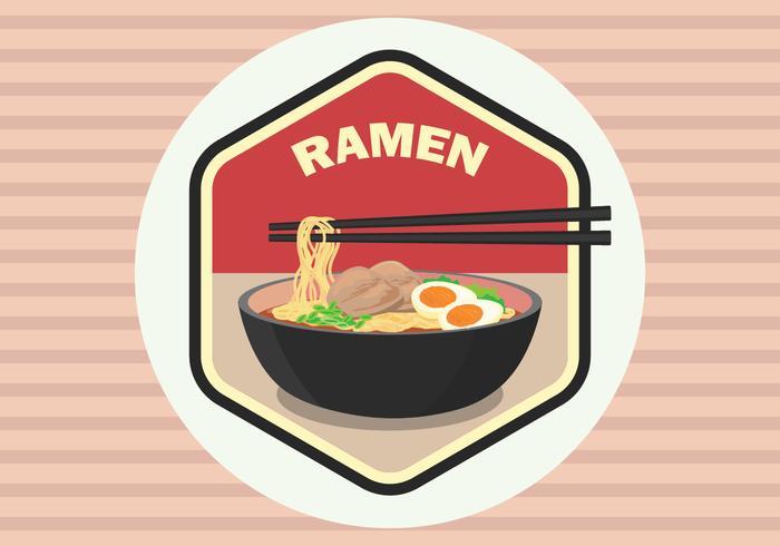 vector de insignia de Ramen