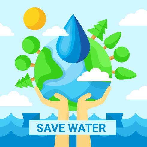 Bespaar waterposter