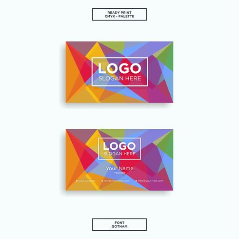Business card colourfull abstract