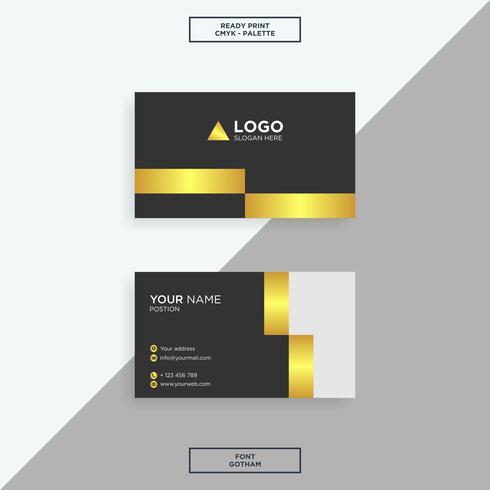 Visitenkarte Gold Elegant Download Kostenlos Vector