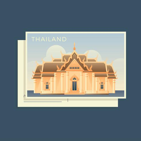 Postcards Of The World Thailand Vector