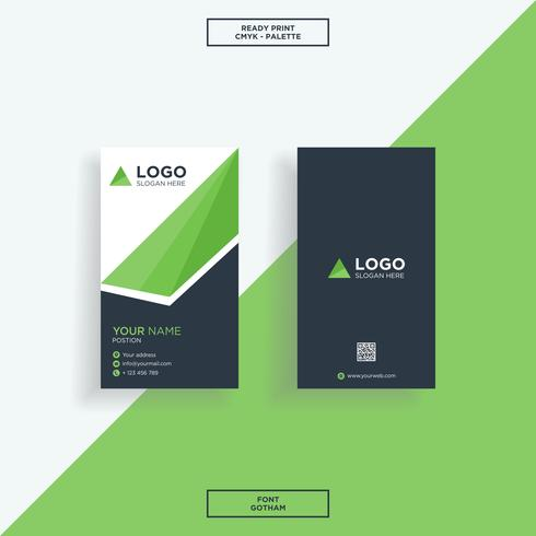 Business card vertical shape