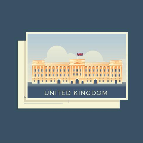 Postcards Of The World United Kingdom Vector