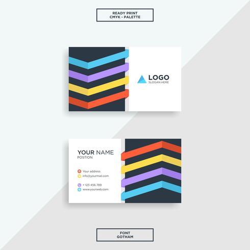 Business card line modern