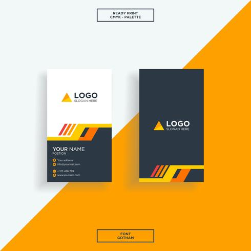 Business card modern black orange