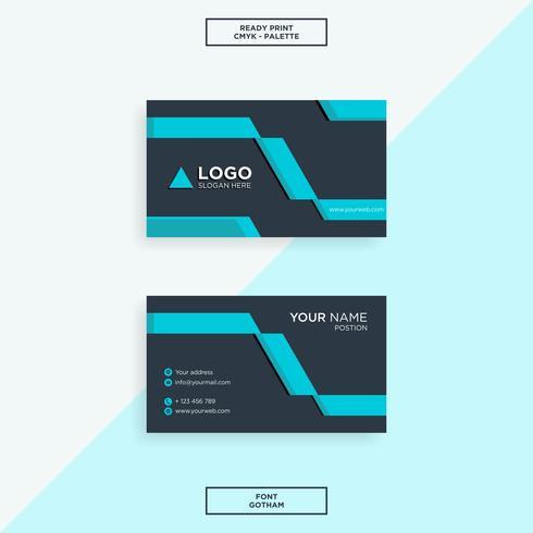 Business card modern tech