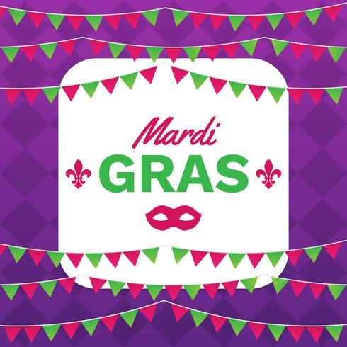 Mardi Gras Frame Template With Space For Text - Download Free Vector ...