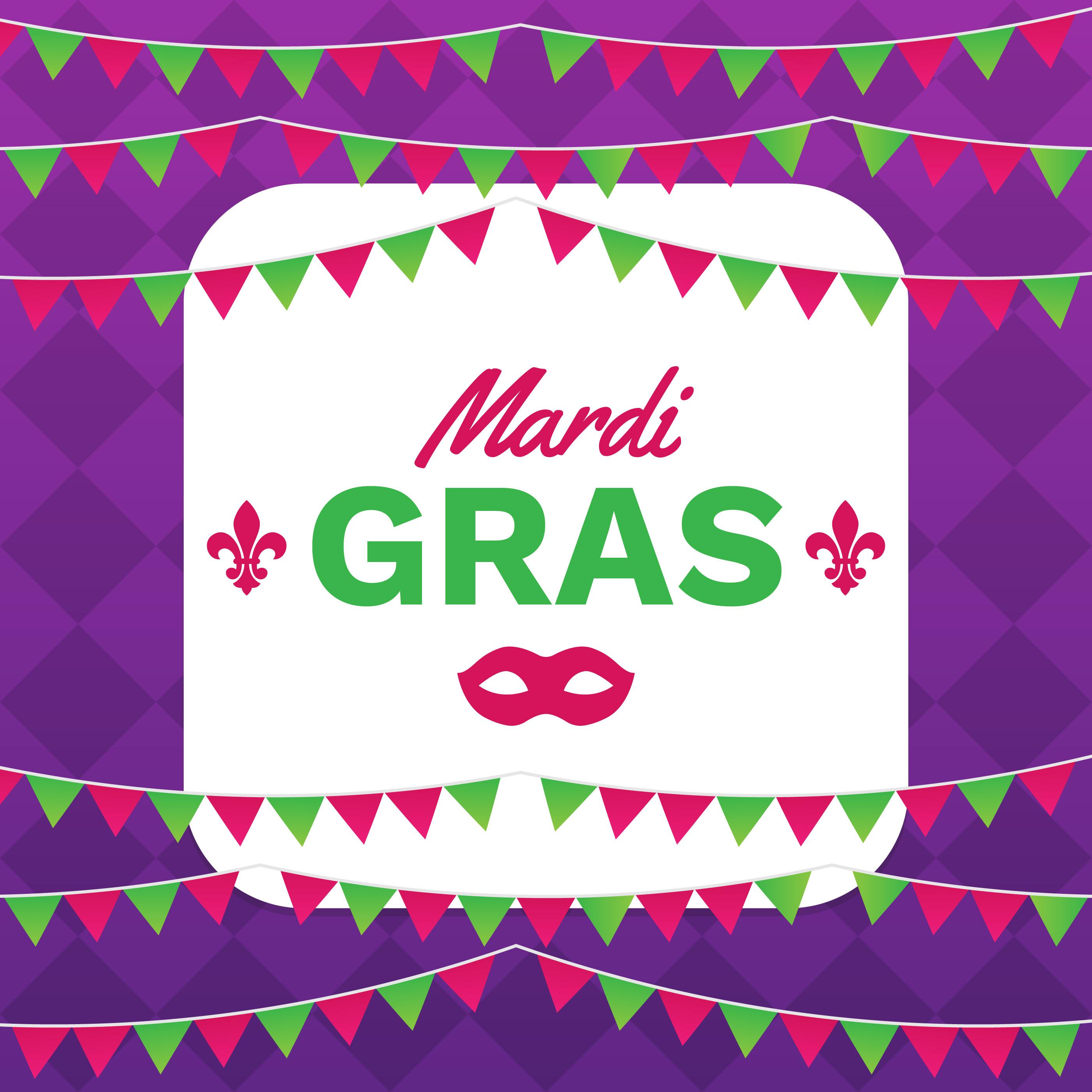 Mardi Gras Frame Vorlage mit Platz für Text - Kostenlose Vektor ...