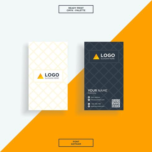 Business card square abstract