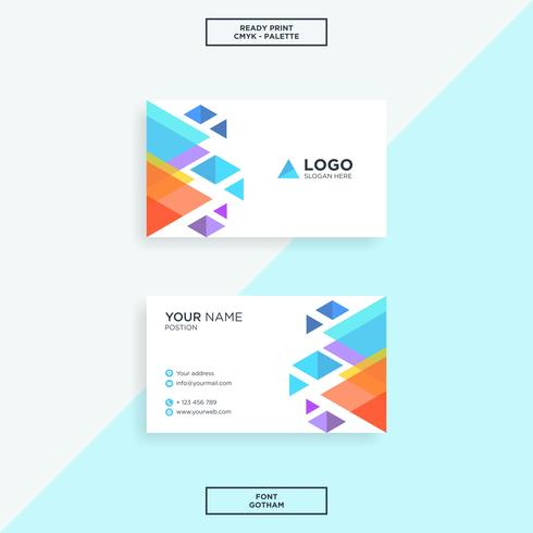 Business card triangle shape modern