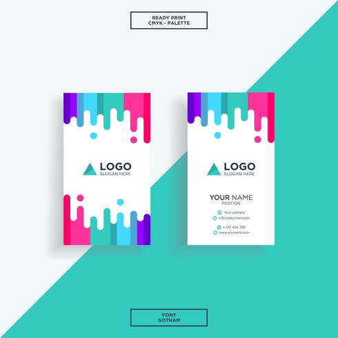Business card vertical colourfull