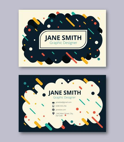 Minimalist business card template download free vector art stock minimalist business card template stopboris Image collections