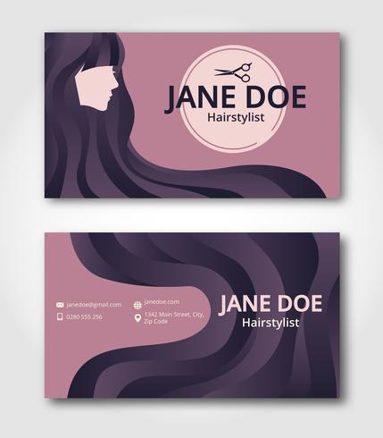 Hairstylist business card template download free vector art stock hairstylist business card template friedricerecipe Gallery