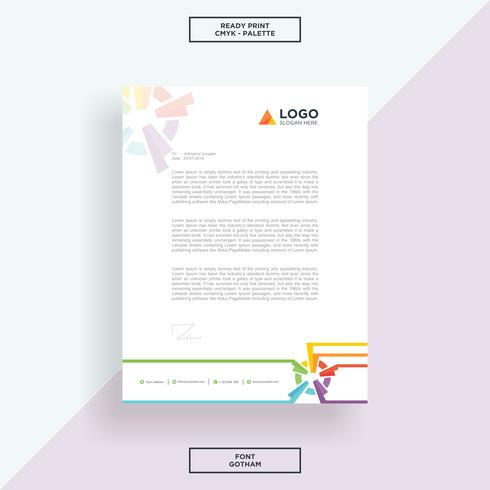 Letterhead abstract template