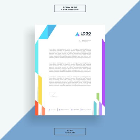 Letterhead abstract lines