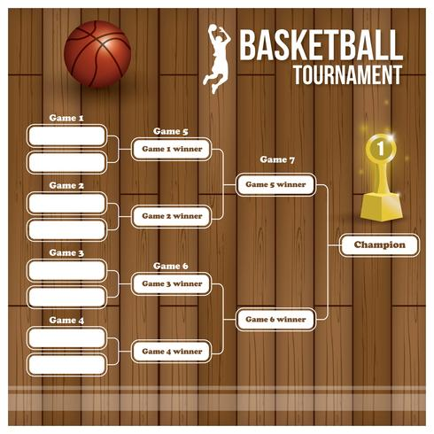 Soporte de torneo de baloncesto