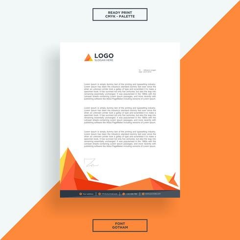 Letterhead abstract orange