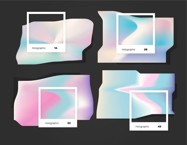Abstract licht holografische kleur Pantone Vector