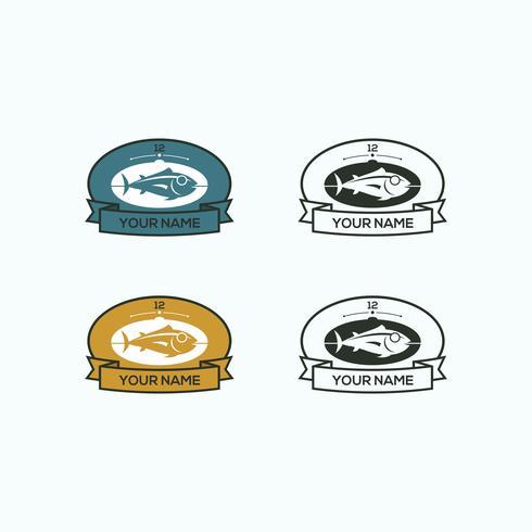 Pez vintage con logo