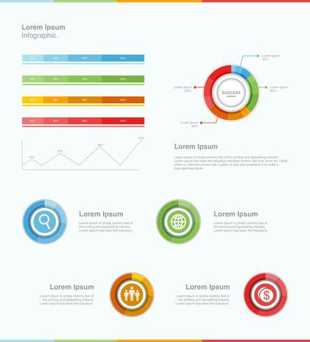 Sucesso infográfico moderno