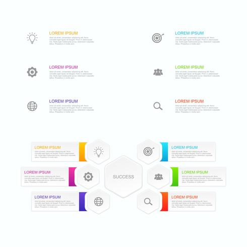 Abstract infographics options template vector illustration that you can edit according to your needs 5