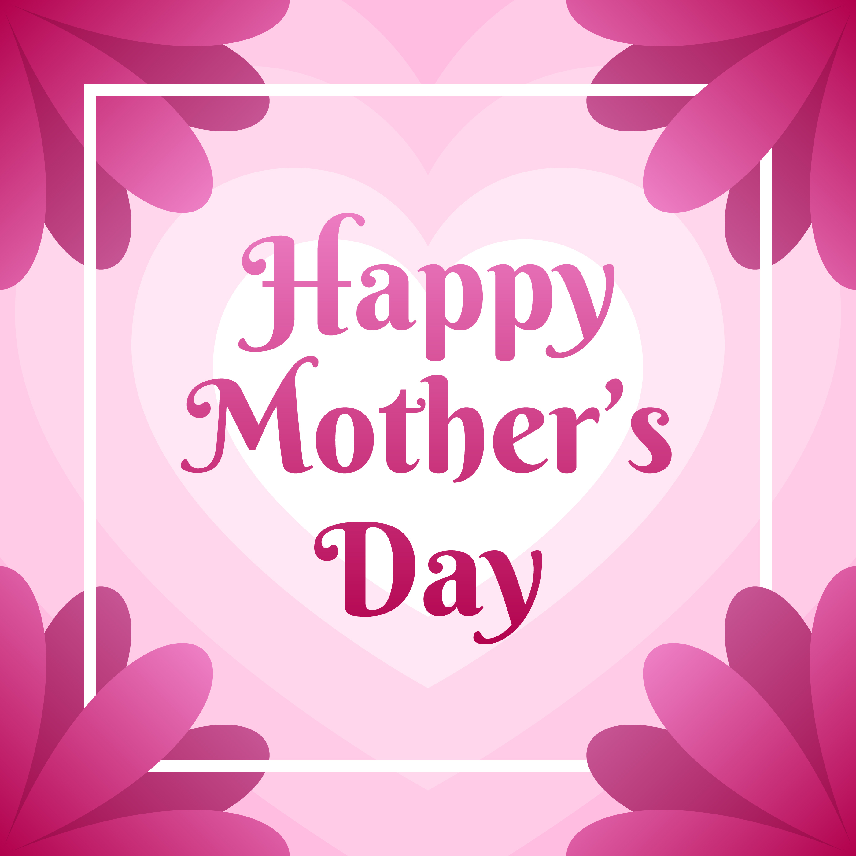Mothers Day Greeting Card With Beautiful Blossom Flowers Download