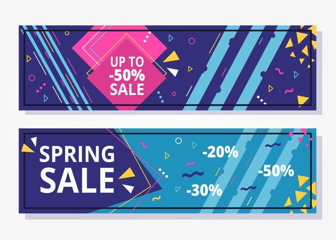 Bannière géométrique de vente