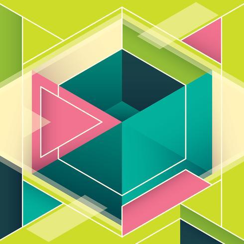 geometrisk banner vektor