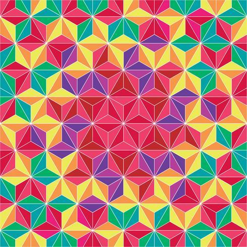 Fondo de patrón geométrico de triángulo colorido