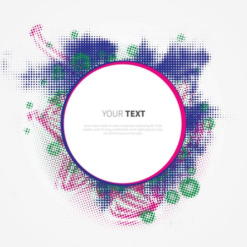 Funky Frame Vector Template