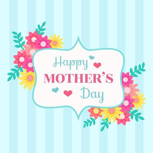Glücklicher Muttertag-Karten-Vektor