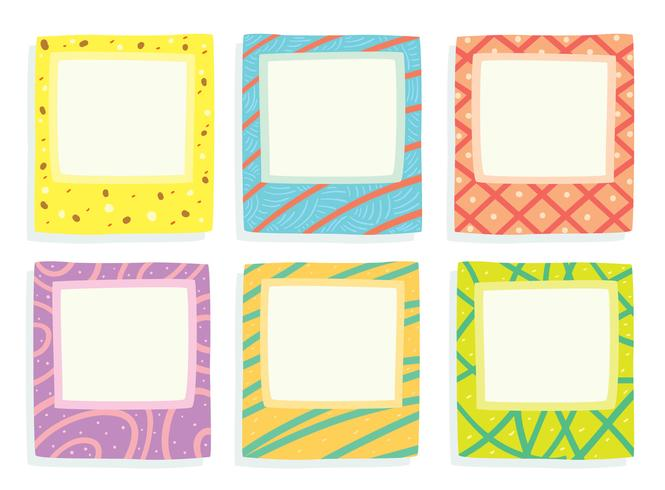 Square Fungky Frames Vector