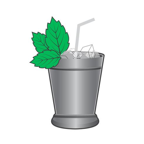 Vecteur simple de julep de menthe