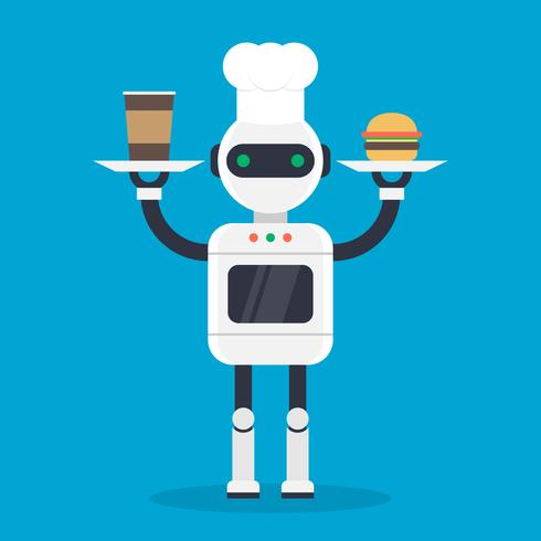 Moderne Cook Robotic Mechanism Vector Illustration