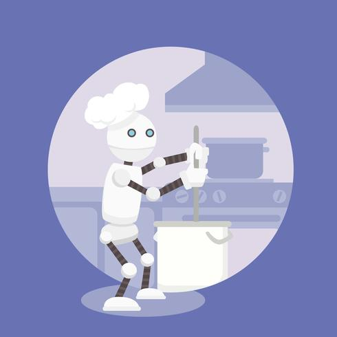 Ai Chef Vector Illustration